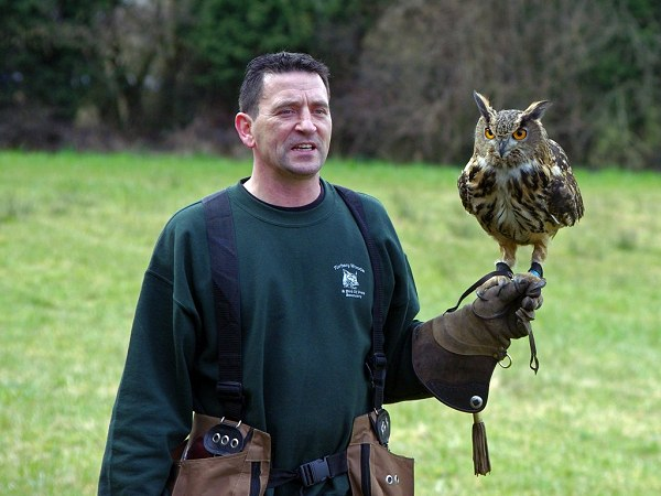 Andy with Owl by Danny Weiss
